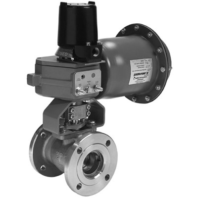 Flanged Ball Valve, 1in, Carbon Steel
