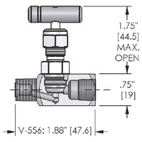 Valve, Mini, CS, .136 Orifice